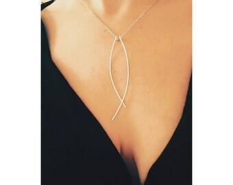 Silver Minimalist Earrings, Minimalist Drop earrings, Bridal Earrings, Minimalist Modern earrings, Dangle Bridal Earrings