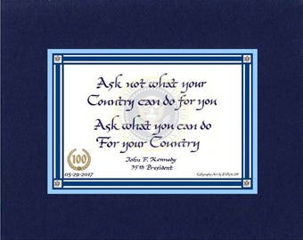 Ask Not What Your Country Can Do For You