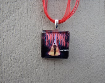 Broadway Musical Pippin Glass Pendant and Ribbon Necklace