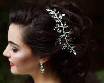 Bridal Hair Comb, Bridal Hairpiece, Crystal Hair Comb, Wedding Hair comb