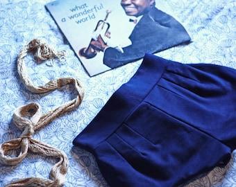 Blue navy winter shorts