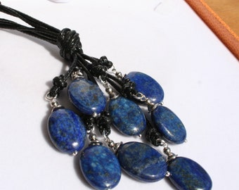lapis lazuli neclace, long necklace, gemstone jewerly, gift for women, jewelry handmade, free shipping