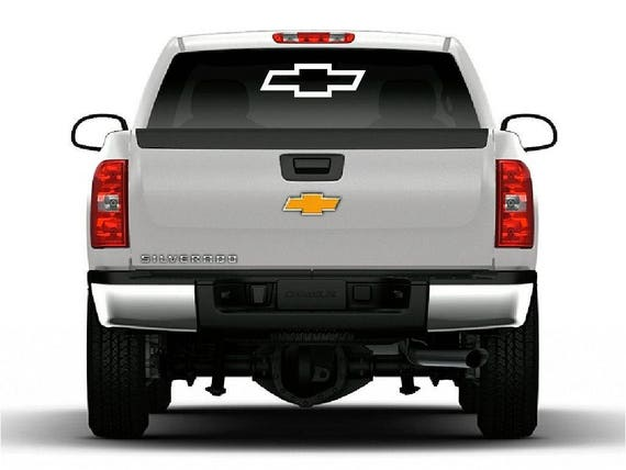 Chevrolet Bowtie Vinyl Decal Car Truck Window Large Chevy Logo - Chevy truck stickers for back window