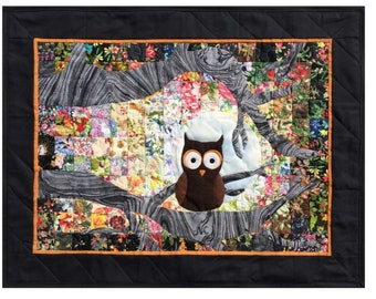 "Ollie Owl  - Whims Watercolor Quilt Kit - precut 2"" squares - perfect for the beginner or experienced! Quilt Grid included!!"