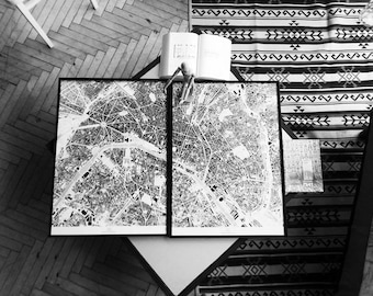 Paris posters in frame