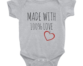 Made with 100% Love Onesie