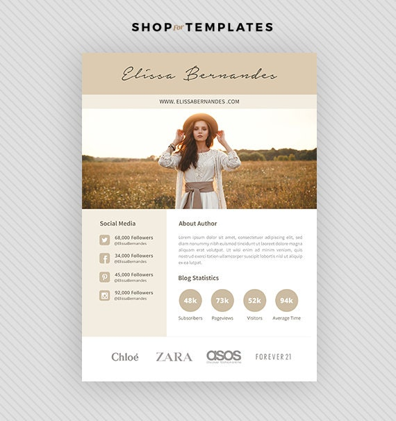 2 page blog media kit template press kit template 2 page blog media kit template press kit template maxwellsz