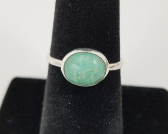 Amazonite Stacking Silver Ring