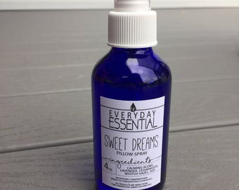 Sweet Dreams Pillow Spray. Sleep Spray. Good night mist. Essential Oils. Pure Therapeutic Grade Oils. Restful Blend. Cedarwood. Lavender.
