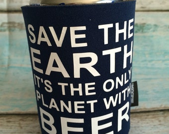 Save the Earth Can Cooler