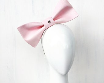 ANIKA: pink bow fascinator - races, special events