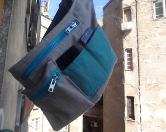 Canvas Hip Bag / Travel Belt Pouch / Festival Bag / Fanny Pack /  Baby-wearing Bag / Hip Pack / Bum Bag/ Festival Pouch/ Utility bag