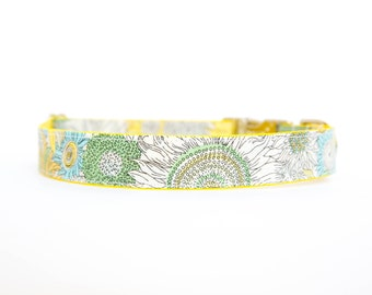 Liberty of London Dog Collar - Sunny Yellow Sketch Floral