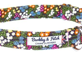Green Ditsy Print Dog Collar