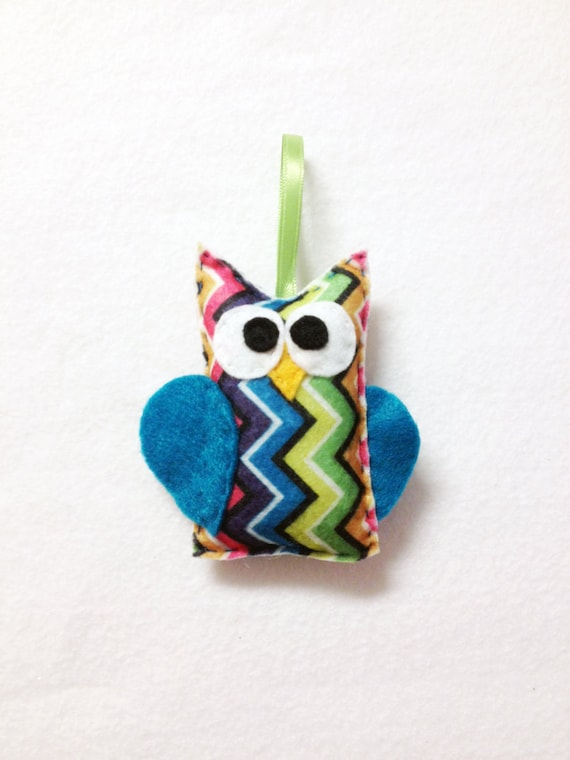 Owl Ornament, Felt Owl, Felt Christmas Ornament - Ziggy the Owl