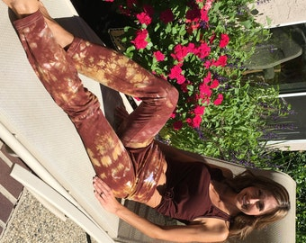 "Earth Brown Amber Yoga Pants 32"" inseam Including Plus Sizes"