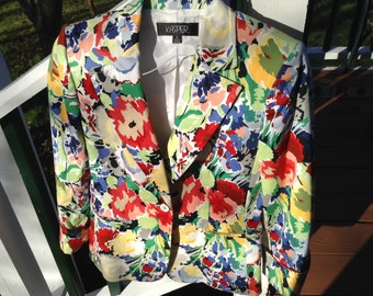 Clearance 5.00  dollars off! Floral jacket by kasper-  Size 6 -Floral Jacket