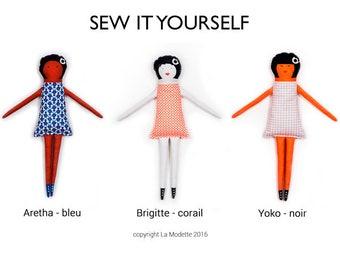 Poupée de chiffon kit couture - Yoko - cadeau jeu doudou enfant