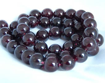 Natural Garnet set of 46 beads