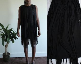 Retro Kate Moss Fringe Dress