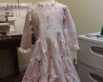 Georgia dress with tiered skirt and matching bloomers
