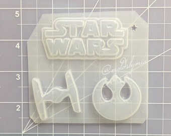 ON SALE SALE!!! Galactic wars flexible plastic resin mold set 3pc