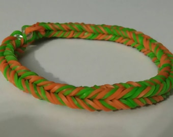 Pumpkin Bulk Fishtail Rainbow Loom Bracelet