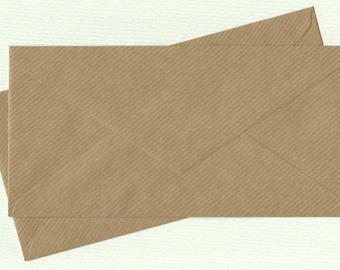 10 DL ECO kraft brown envelopes for cards and invitations / DIY Wedding Invitation Envelopes