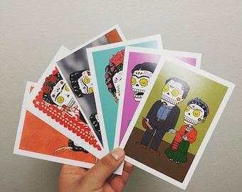 Calaveras Postcard Set (6 Day of the Dead Postcards by Jose Pulido)