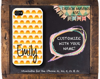 Candy Corn iPhone Case, Halloween iPhone Case, Personalized Phone Case, Fits iPhone 4, 4s, iPhone 5, 5s, 5c, iPhone 6, 6 Plus, Phone Cover