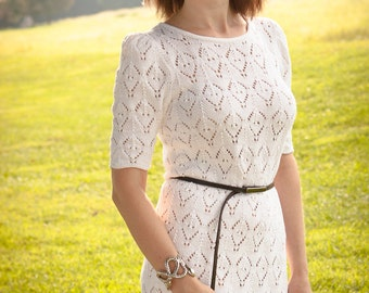 One of a kind Handknitted Cotton Dress