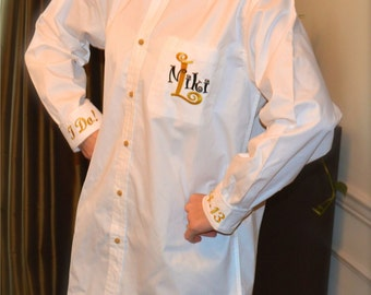 Oversized Monogrammed Buttondown Shirt for Brides---SALE