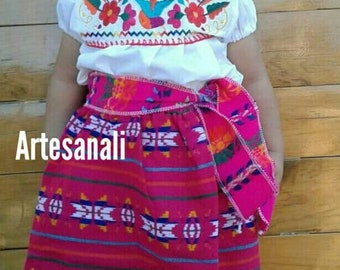 Mexican Embroidered Blouse and Boho skirt outfits  size 1-2 years old Girls