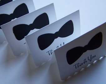 """18 Bowtie Thank You cards 2.25""""x3"""""""