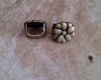 Bronze flower Dreadlock bead. Bronze dread bead. Dread schmuck. Hair bead.