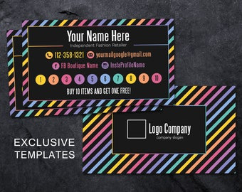 Lularoe Punch Card Etsy - Business punch card template free