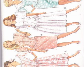 Butterick 6078 CLEARANCE Vintage Pattern Womens Fit or Flared Dress with Princess Seams in 5 Variations Size 8,10,12 UNCUT