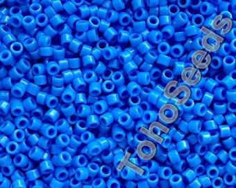 5g Toho 11/0 Treasure Cylinder Seeds Beads Opaque Cornflower Blue TT-01-43D Cylinder Rocailles