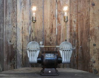 Repurposed Compressor Lamp