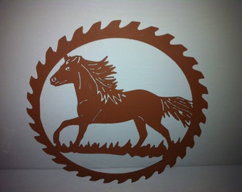 Running Horse Metal Wall Decor Running Horse Saw Blade Wall Decor