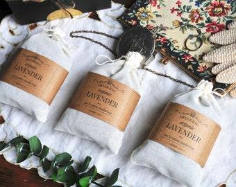 ORGANIC LAVENDER Dryer Bag | Handcrafted Herbal Aromatherapy Dryer Sachet