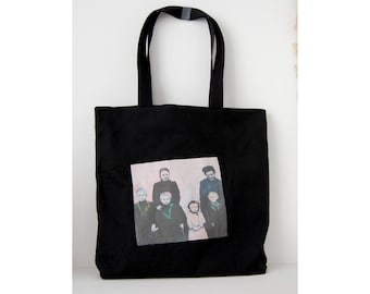 tote bag black shopping bag gothic family
