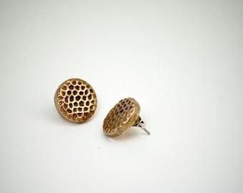 Stipple Button Earrings