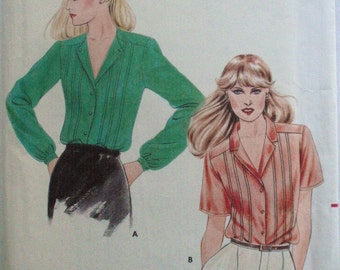 Women's Sewing Pattern - Button Front Blouse with Front Tucks - Butterick 3328 - Size 14, Bust 36