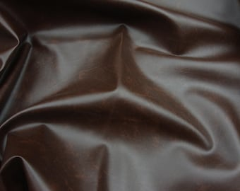 Brown Contract commercial Marine grade upholstery vinyls Faux Leather fabric per yard