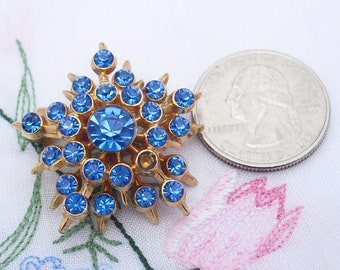 Vintage Rhinestone Pin TLC Wounded Beauty 1950s Atomic Retro Jewelry Brooch