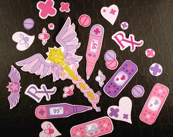 Magical Girl First Aid Cut-Your-Own Yumekawaii Sticker Sheet
