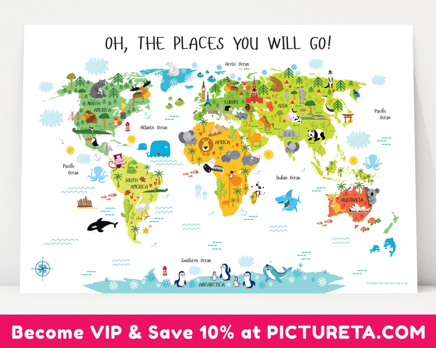 First birthday gift travel nursery kids world map nursery zoom gumiabroncs Image collections