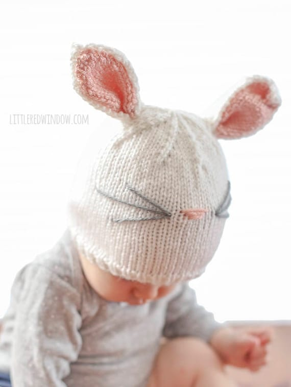 rabbit ear hat knitting pattern guide