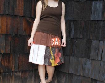 Handmade Upcycled womens t-shirt skirt Size Medium (6-12)